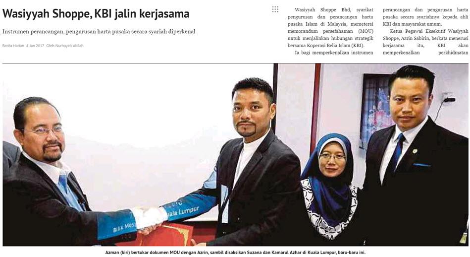 Wasiyyah Shoppe, KBI Jalin Kerjasama